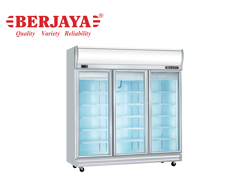 ELECTRIC 3 DOOR DISPLAY FREEZER-BLOWER SYSTEM (SILVER FRAME) C/W EXPANSION VALVE