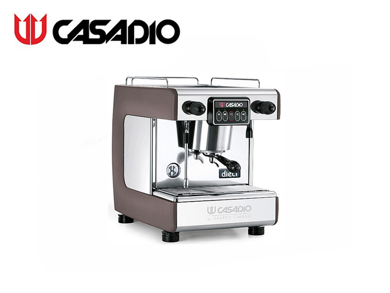 AUTO COFFEE MACHINE 1 GROUP {WITH 3xSTEEL BAR} {INCLUDE W/R} BROWN
