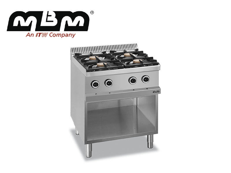 GAS RANGE 4 BURNERS ON OPEN STAND