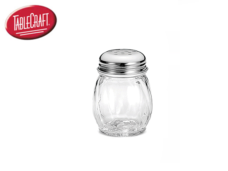 6 OZ SHAKER SWIRL GLASS , PERFORATED , S/S TOP
