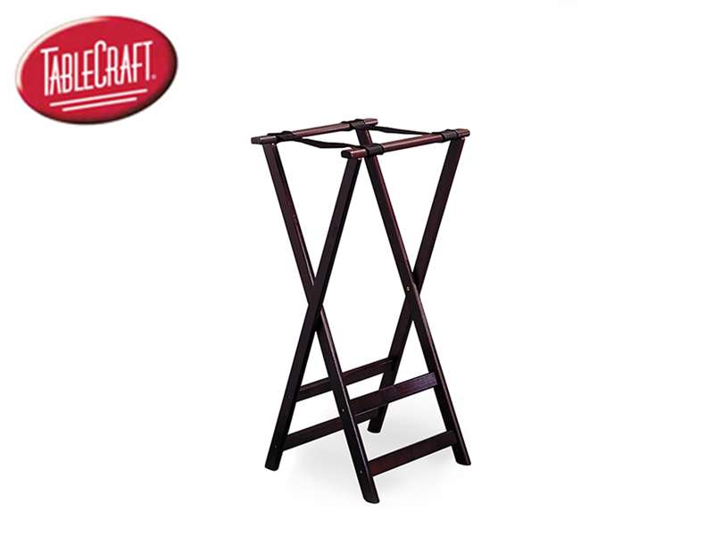 WOOD TRAY STAND DOUBLE BAR HIGH 38