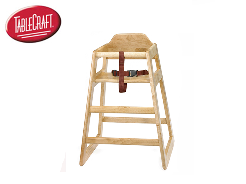 HIGH CHAIR NATURAL , UNASSEMBLED SIZE 20x19xH:26-3/4