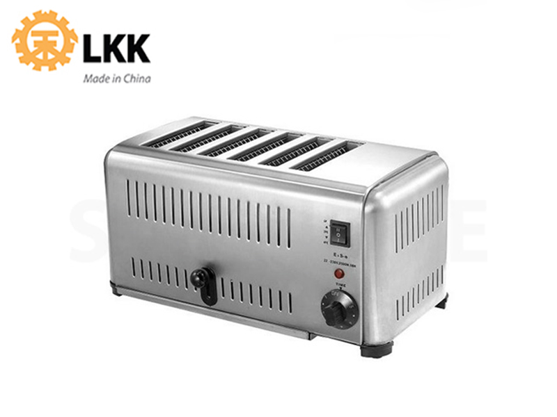 STAINLESS STEEL TOASTER 6 SLOT, 220V 2500W