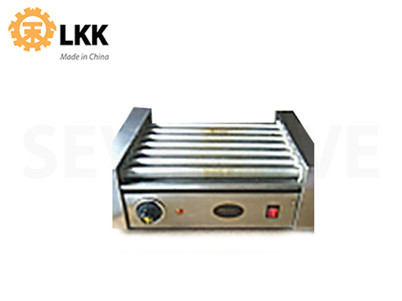 STAINLESS STEEL HOT DOG WARMER - 7 ROLLERS 220V 1500W