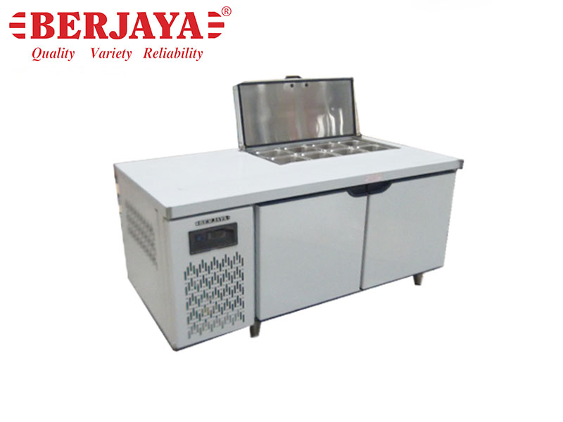 5FT 2 DOOR SANDWICH COUNTER CHILLER-BLOWER SYSTEM {WITHOUT BACKSPLASH} {WITH LEG}
