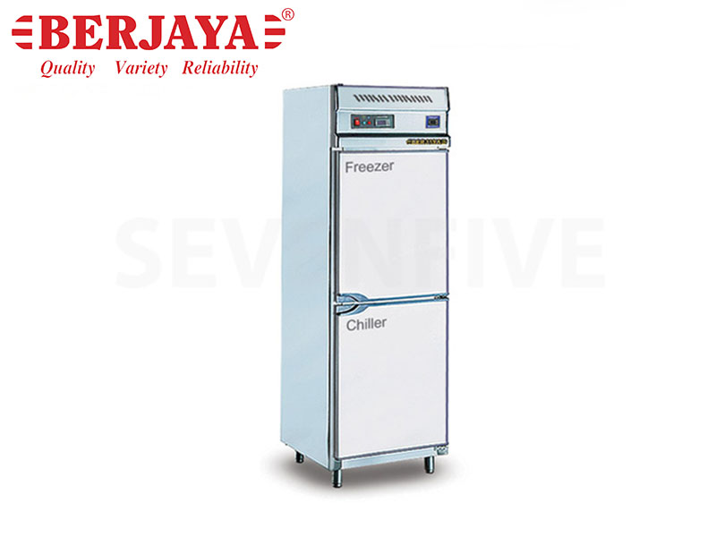 DUAL 2 DOOR UPRIGHT CHILLER/FREEZER-BLOWER SYSTEM W/LEG 2 COMPRESSOR