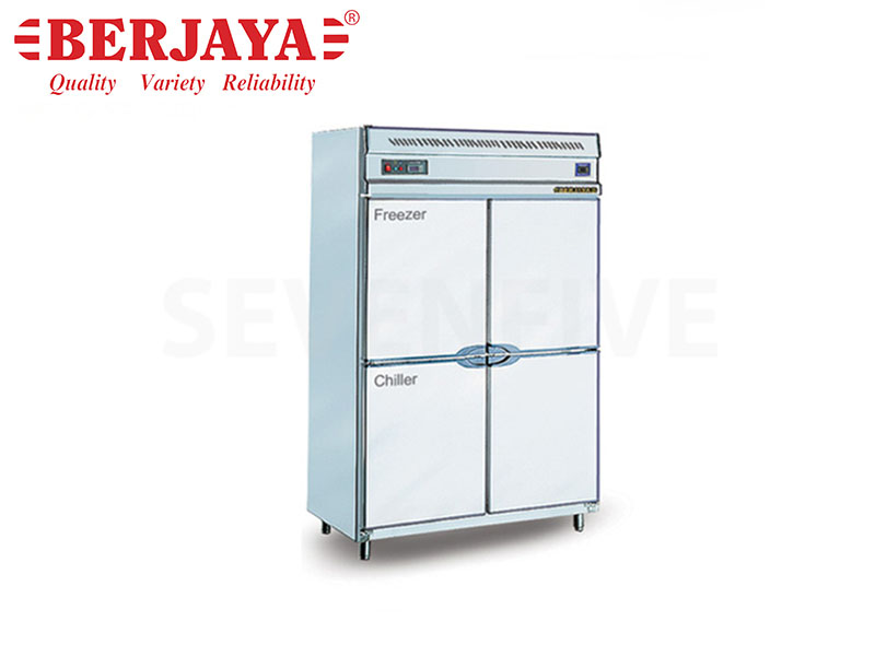 DUAL 4 DOOR UPRIGHT CHILLER/FREEZER-BLOWER SYSTEM W/LEG