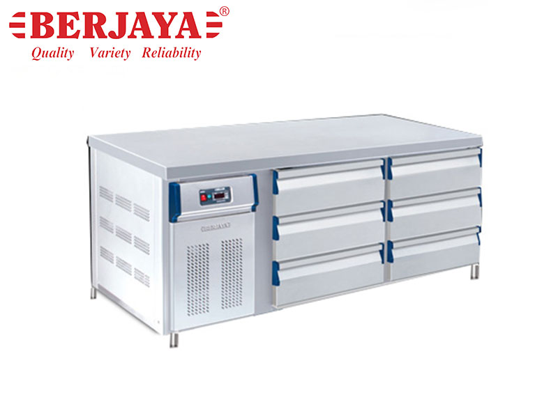 6FT 6 DRAWER COUNTER CHILLER 3 DECK-BLOWER SYSTEM {WITH LEG}
