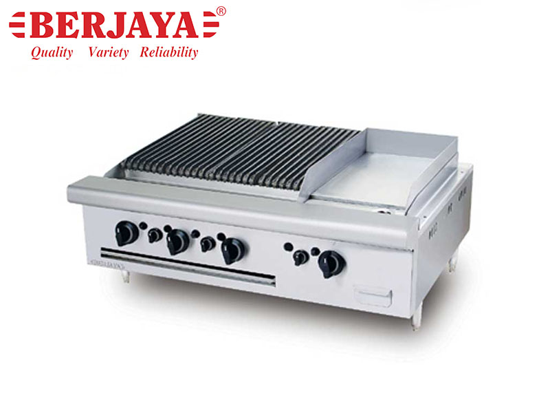 GAS COMBINATION CHAR BROILER GRIDDLE TABLE TOP