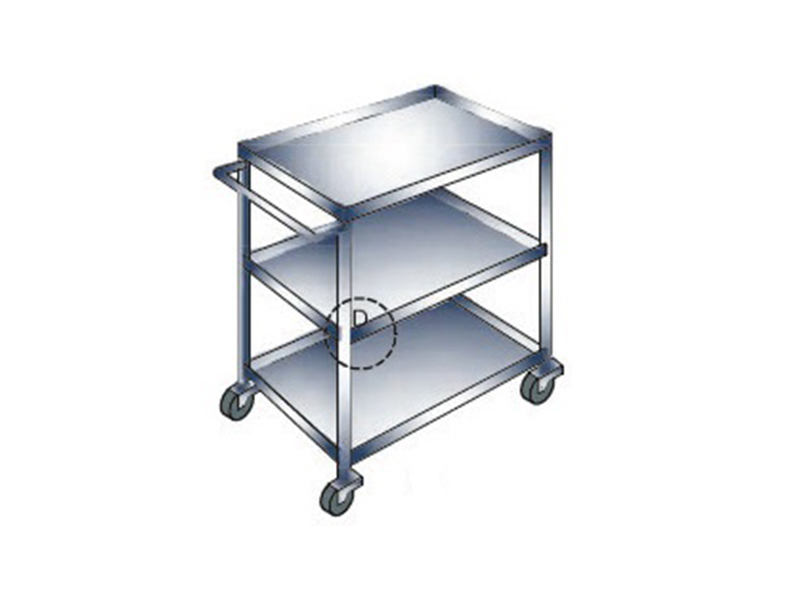 STAINLESS STEEL KITCHEN TROLLEY