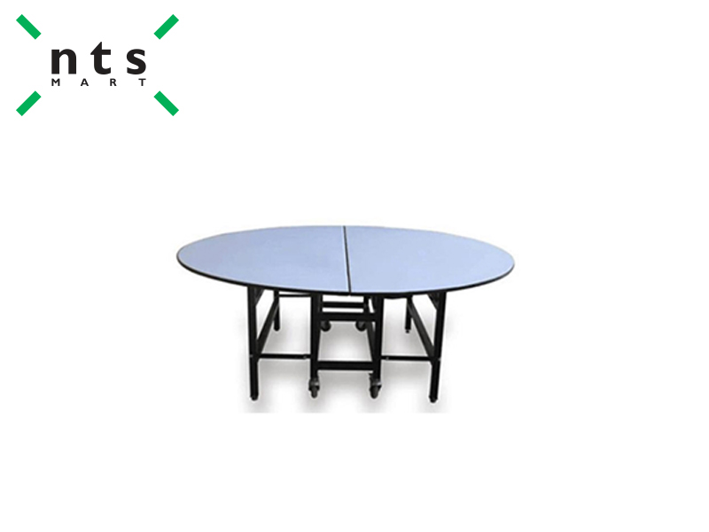 ROUND BANQUET TABLE WITH CASTERS