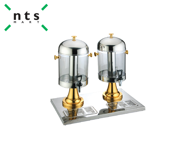 DOUBLE JUICE DISPENSER 8 L , GOLD BASE