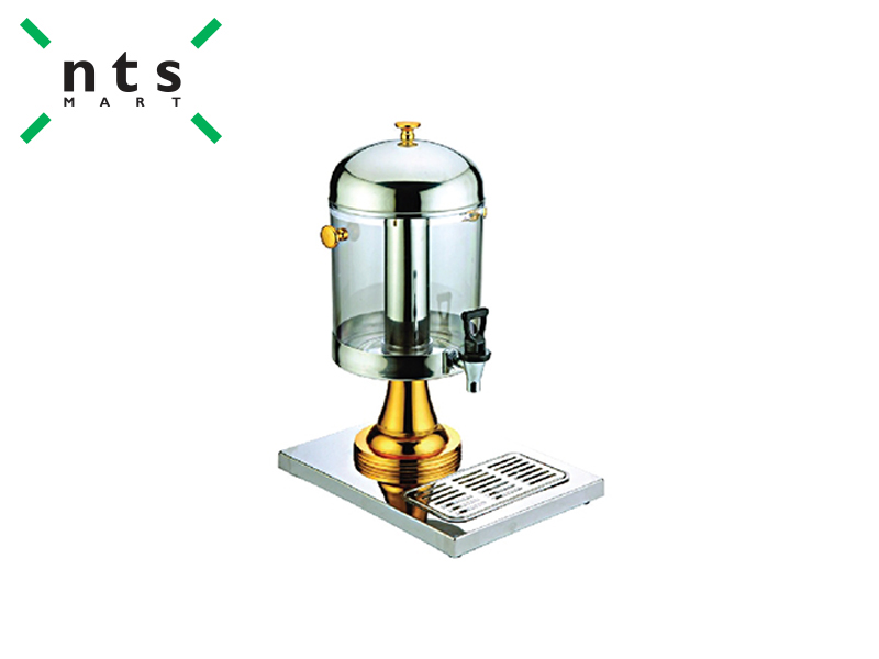 SINGLE JUICE DISPENSER 8 L , GOLD BASE