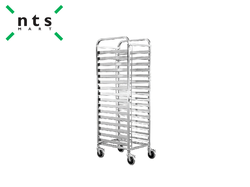 16 SHELVES S/S TROLLEY-FIX