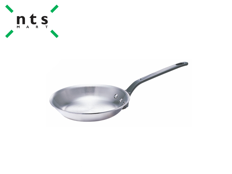 COMPOUND STEEL SLANT  FRYING PAN WITH CAST HANDLE