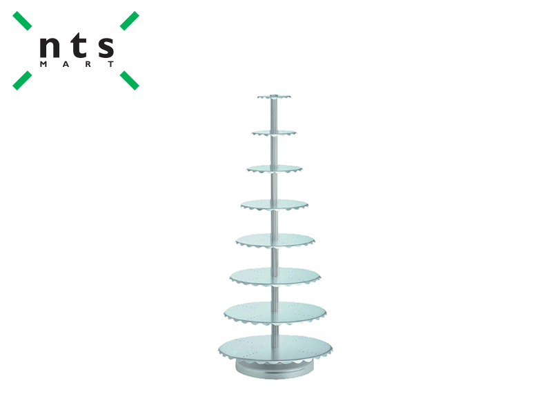 AL.ALLOY WEDDING CAKE STAND -8 TIER CENTRAL PILLARS