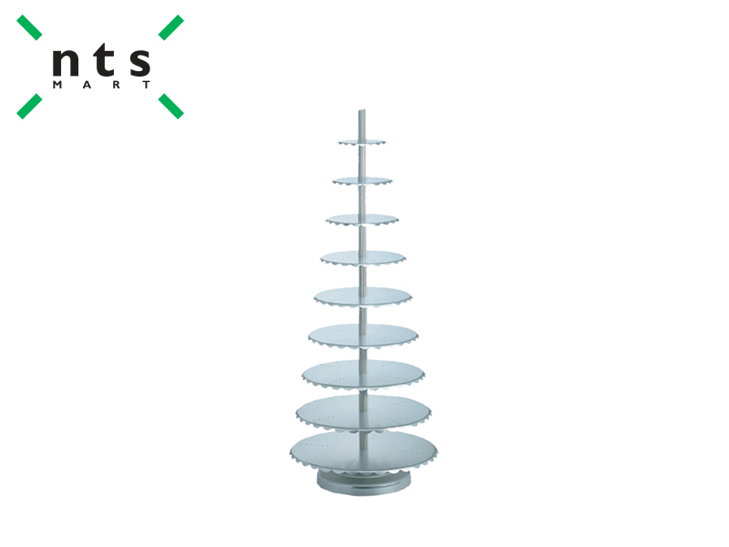 AL.ALLOY WEDDING CAKE STAND -10 TIER CENTRAL PILLARS