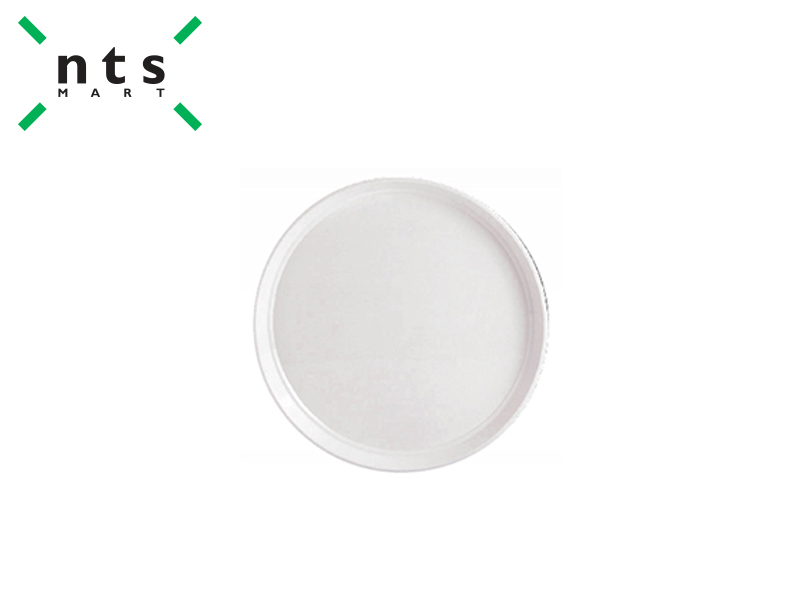 PLASTIC ROUND DISPLAY TRAY , WHITE