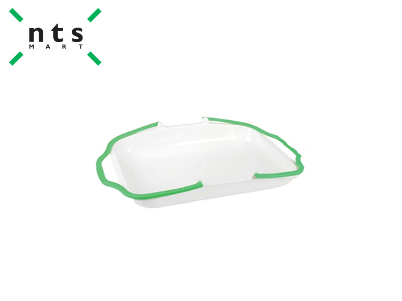 PLASTIC BASKET (RICE WHITE / GREEN)