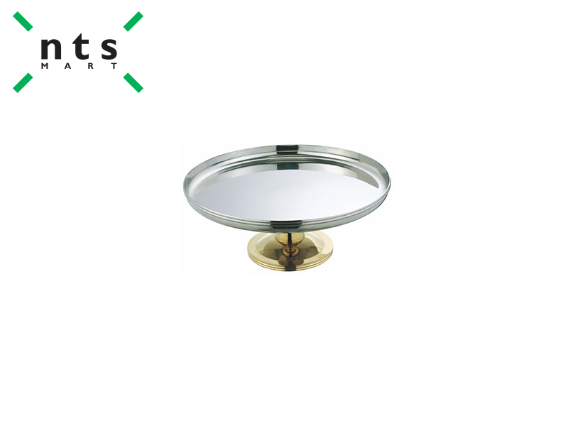 GOLDEN PLATED CAKE STAND DIA 350 MM