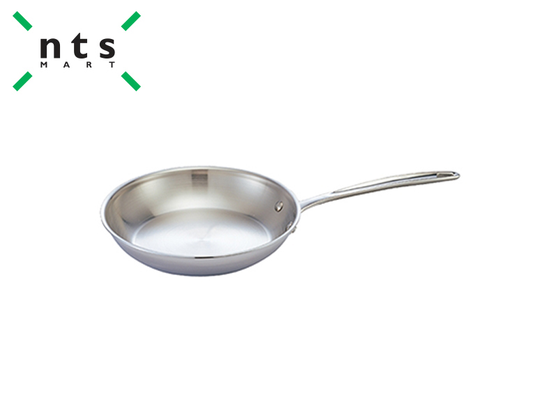 COMPOUND STEEL SLANT  FRYING PAN WITH STEEL HANDLE
