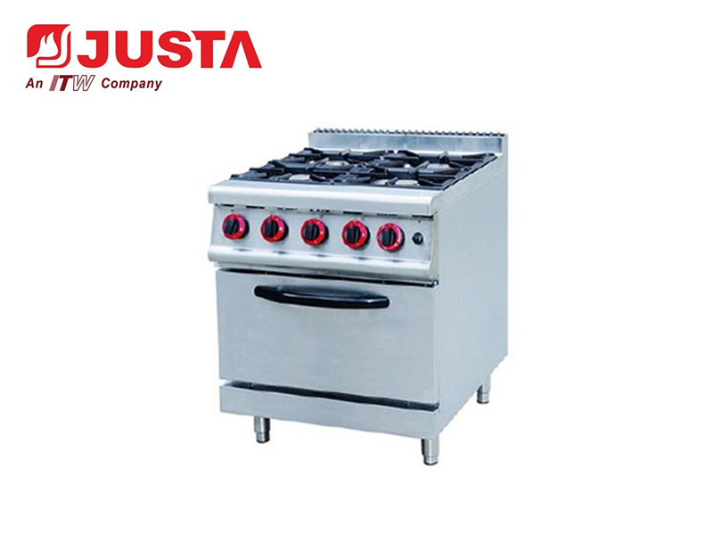 GAS 4-BURNER WITH ELECTRIC OVEN