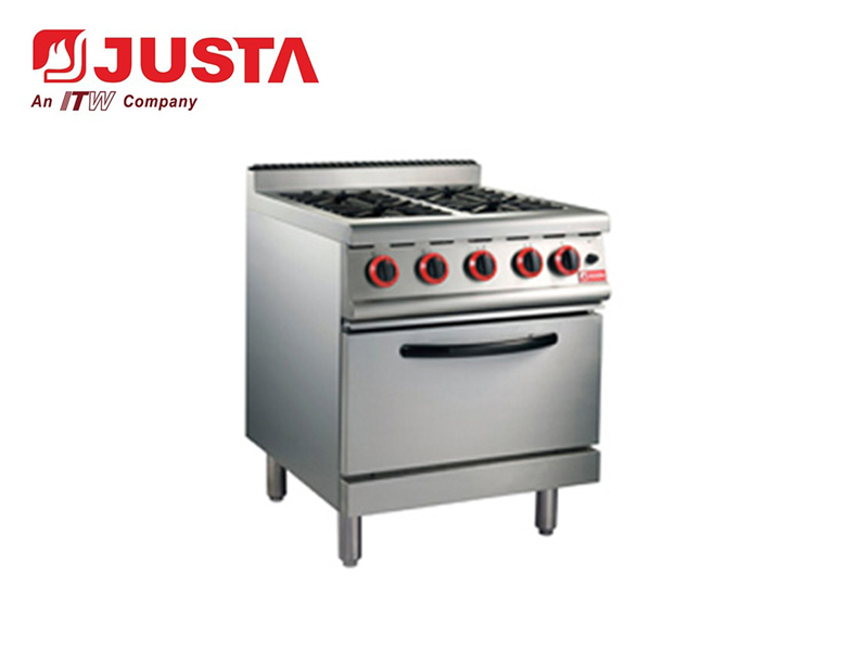 GAS RANGE WITH 4-BURNER & OVEN