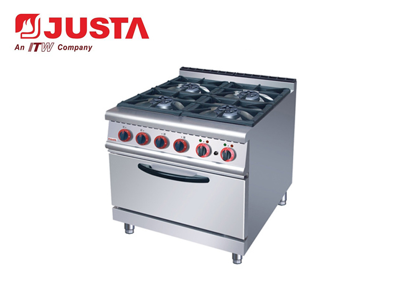 GAS RANGE WITH 4- BURNER & ELECTRIC OVEN