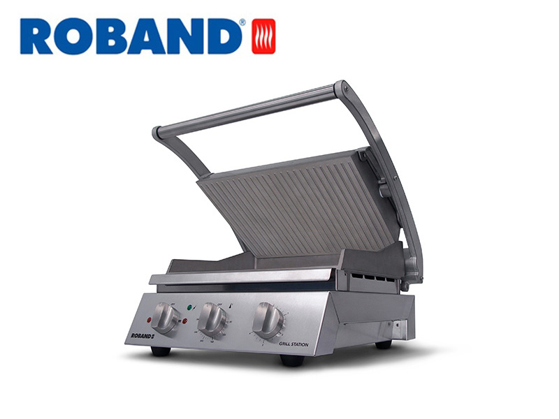 CONTACT GRILL STATION RIBBED TOP PLATE FOR 6 SLICES