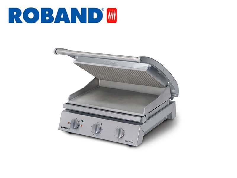 CONTACT GRILL STATION RIBBED TOP PLATE 8 SLICES