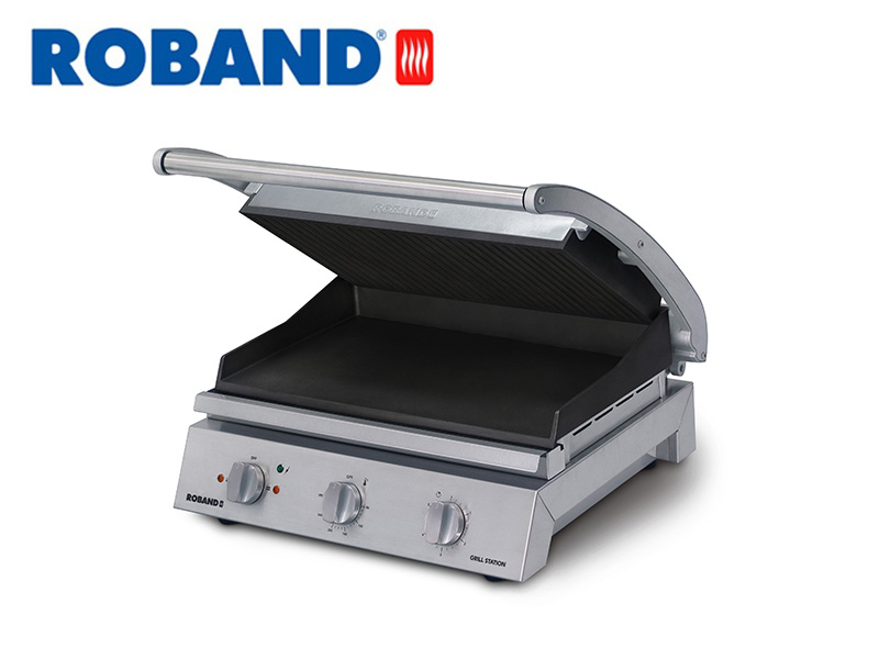 CONTACT GRILL STATION RIBBED TOP PLATE NON-STICK 8 SLICES