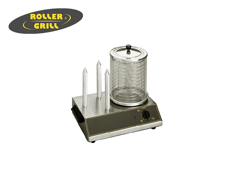 ELEC. HOT DOG MACHINE 3-HEATING AND 2-SECTION BASKET