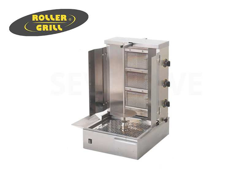 GAS GYROS GRILL SPIT HEIGHT:400 MM. 15 KG MEAT