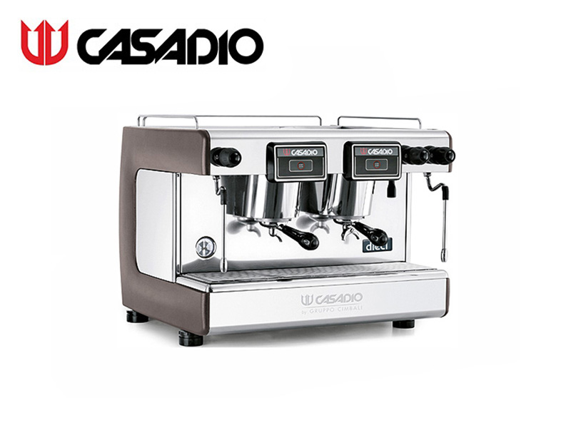 SEMI-AUTO COFFEE MACHINE 2 GROUPS {WITH 4xSTEEL BAR} {INCLUDE W/R} BROWN