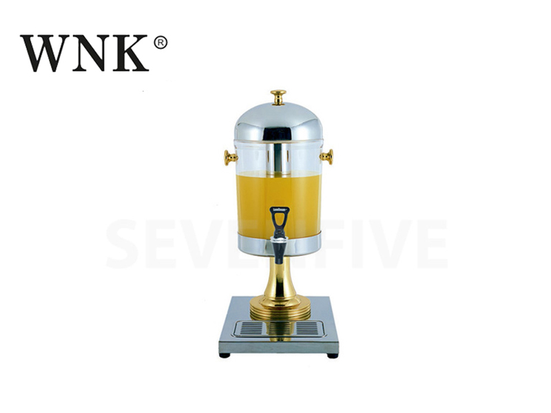 SINGLE JUICE DISPENSER (BRASS HANDLES,KNOB AND LEG)