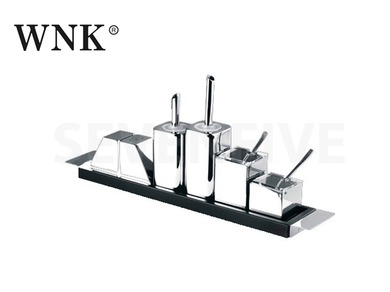 CONDIMENT 9 PCS SET W/STRAIGHT BASE