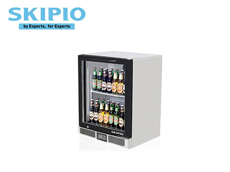 1 DOOR BACK BAR CHILLER BLACK (SWING DOOR)