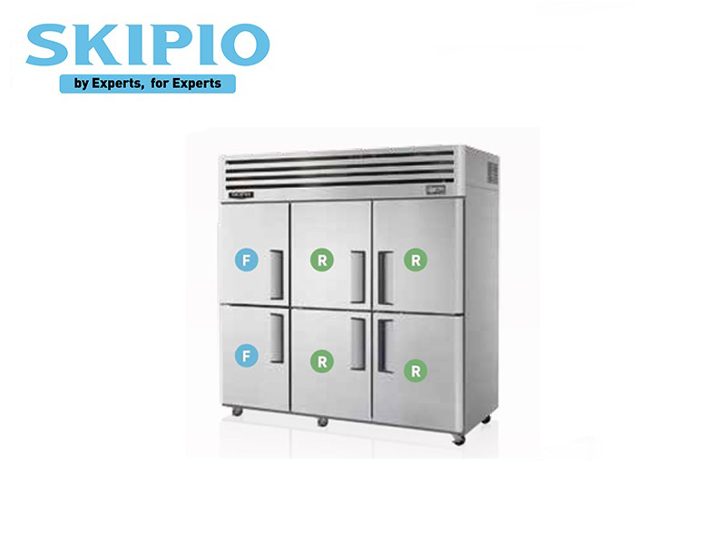 6 DOORS TOP MOUNT CHILLER / FREEZER S SERIES WITH LEGS