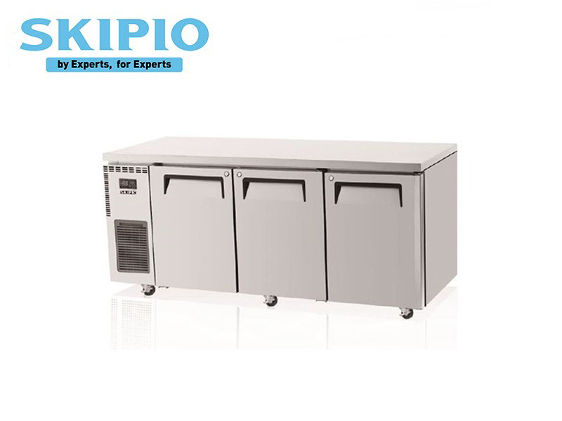 3 DOORS UNDER COUNTER CHILLER S SERIES WITH BACKSPLASH  WITH LEGS