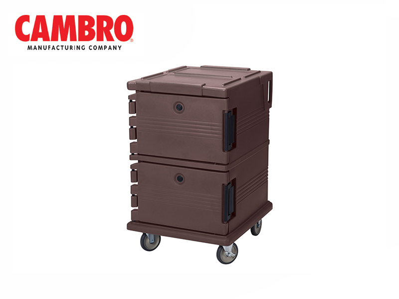 ULTRA CAMCART DOUBLE COMPARTMENT FOR GN 1/1 {WITHOUT THERMOMETER} , DARK BROWN