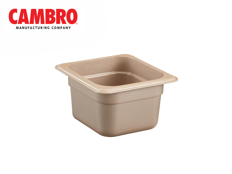 CAMWEAR POLYCARBONATE GASTRONORM H-PAN GN 1/6 , SANDSTONE