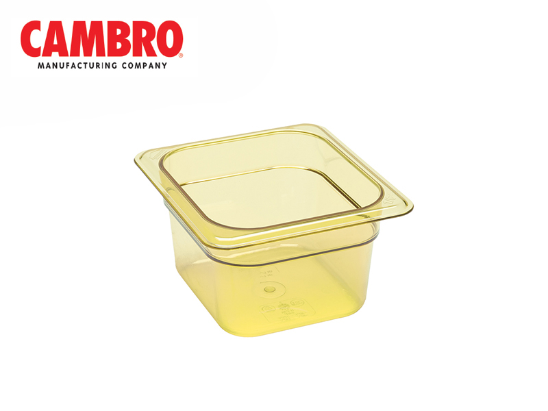CAMWEAR POLYCARBONATE GASTRONORM H-PAN GN1/6, AMBER