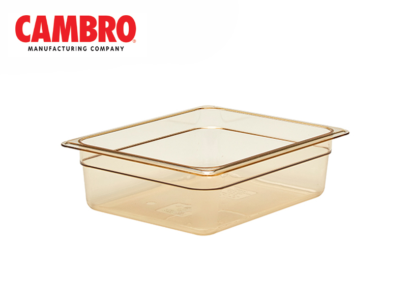 POLYCARBONATE GASTRONORM HIGH HEAT H-PAN SIZE GN 1/2  DEPTH 100 MM , AMBER