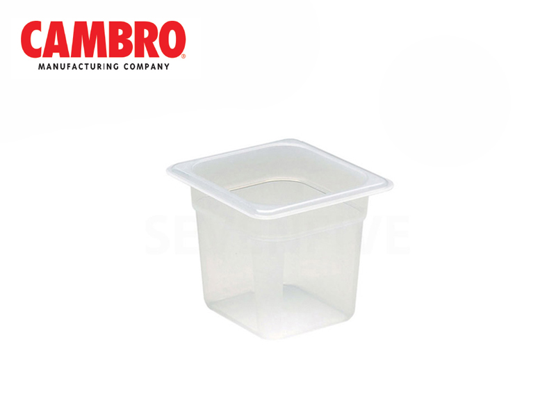 TRANSLUCENT POLYPROPYLENE FOOD PAN 1/6 DEPTH 150 MM , 2.2 L