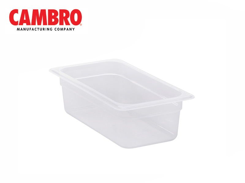 TRANSLUCENT POLYPROPYLENE FOOD PAN 1/3  DEPTH 100 MM , 3.6 L