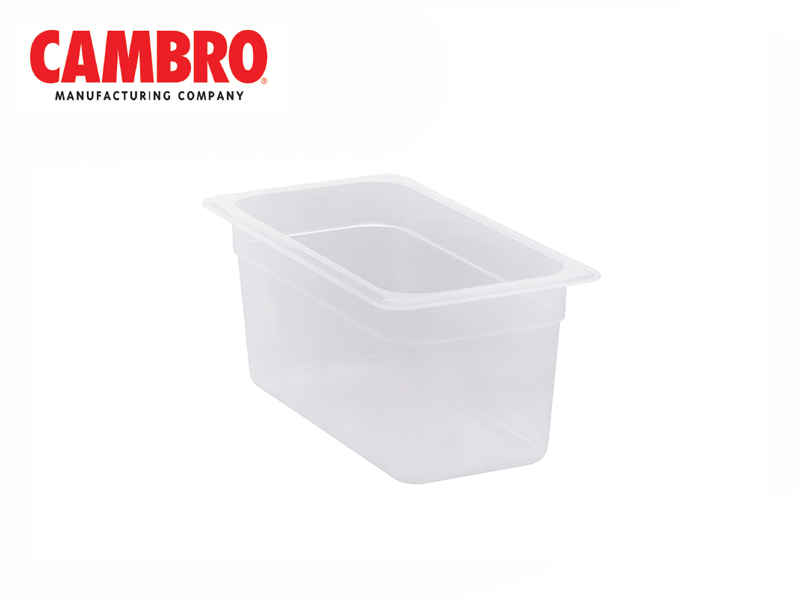 TRANSLUCENT POLYPROPYLENE FOOD PAN 1/3  DEPTH 150 MM , 5.3 L