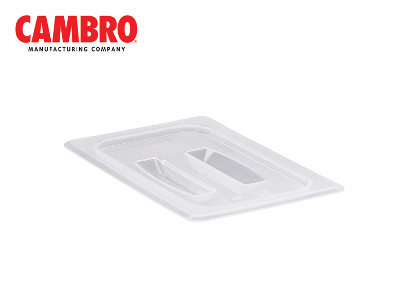 TRANSLUCENT POLYPROPYLENE COVER WITH HANDLE FOOD PAN SIZE 1/4