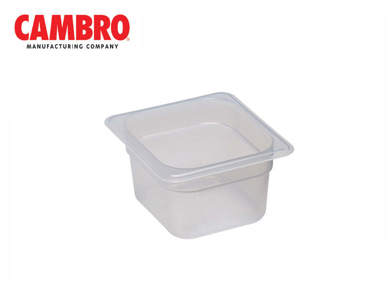 TRANSLUCENT POLYPROPYLENE FOOD PAN 1/6 DEPTH 100 MM , 1.5 L