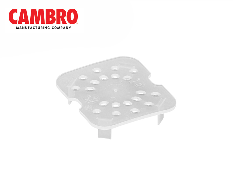 TRANSLUCENT POLYPROPYLENE FOOD PAN 1/6 , DRAIN SHELF
