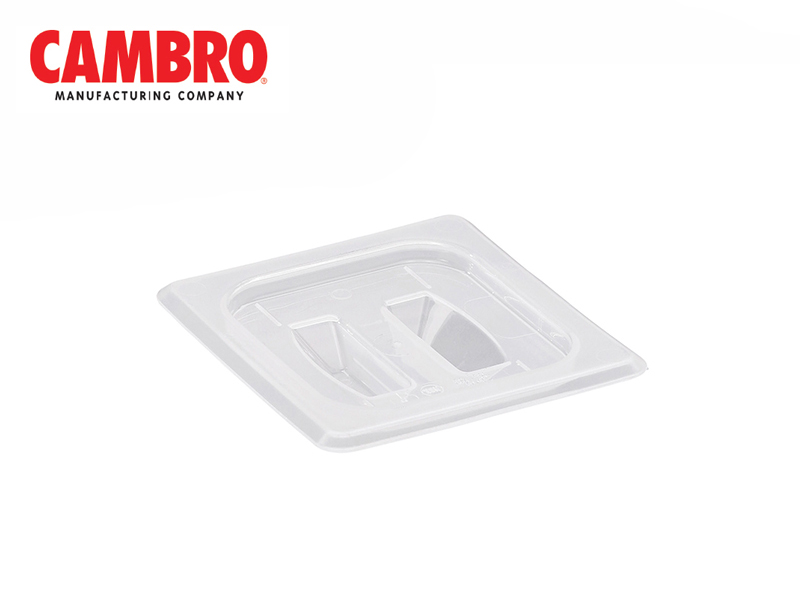 TRANSLUCENT POLYPROPYLENE COVER WITH HANDLE FOOD PAN SIZE 1/6